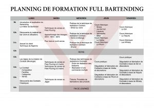 Planning Formation full Bartending 2016